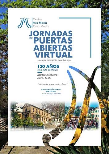 Jornada de Puertas Abiertas Ave María Casa Madre Curso 20/21