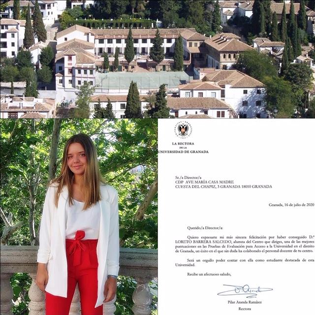 Loreto Barrera, felicitación calificación PEVAU 2020