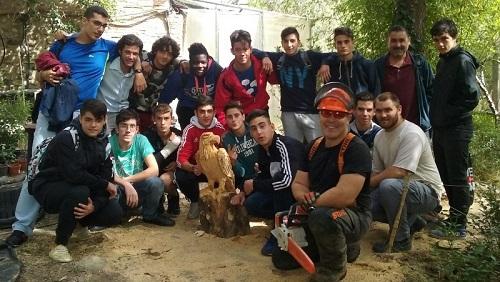 Alumnos Formación Profesional Básica de Agrojardinería